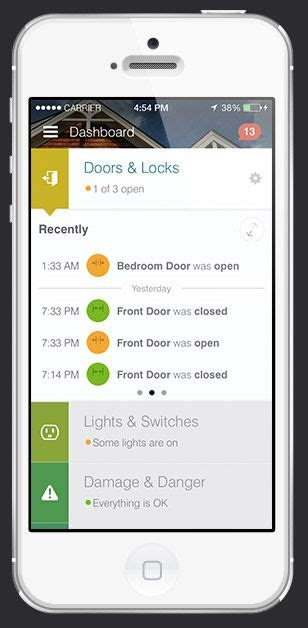 iphone of smartthings app for home automation ios app ui