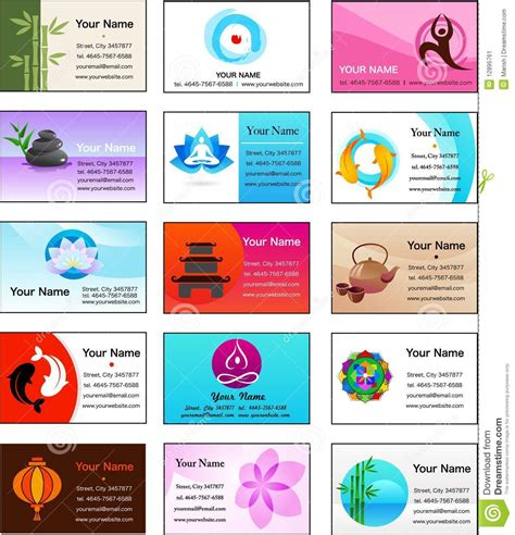 business card buddhist template collection of and zen business card templates stock
