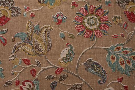 robert allen upholstery robert allen spring mix printed linen blend drapery fabric
