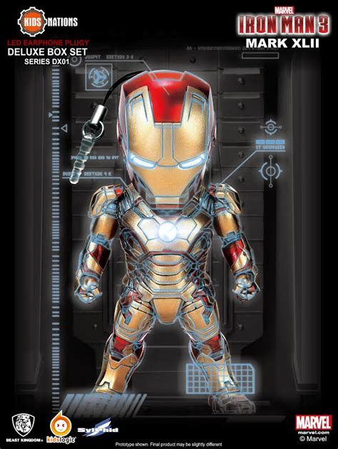 Ironman Mk42 Combat Kid Logic sold out nations dx001 iron earphone deluxe set figure station