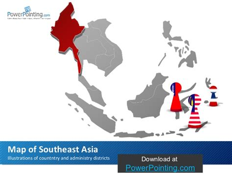 Mba In Southeast Asia by Powerpoint Southeast Asia Map