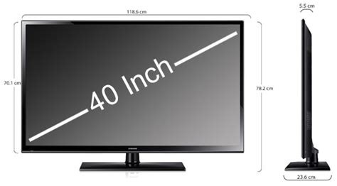 Meja Tv 40 Inch 40 inch tv dimensions pictures to pin on pinsdaddy