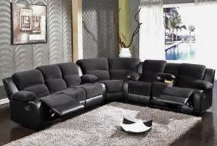Sectional Sofas With Recliners Black Recliner Sofa Sectional Sf 6001 S3net Sectional