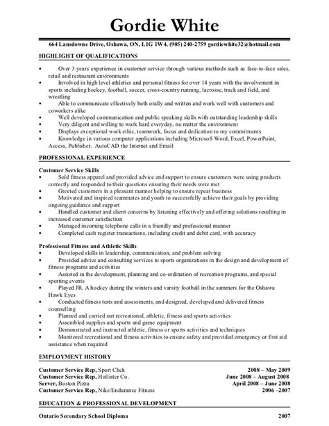 resume format for fitness trainer personal resume