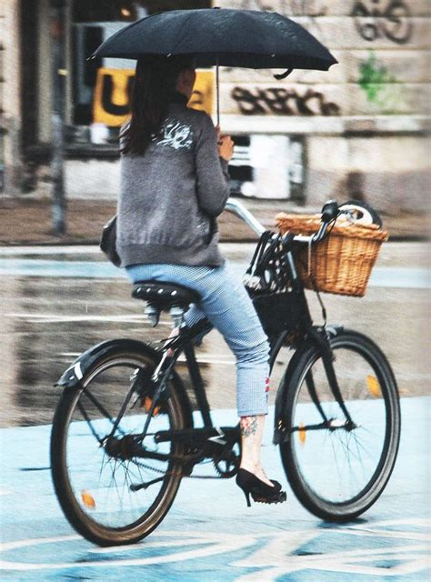 raincoat for bike riders rainy day elegance cycle chic cycling and bicycling