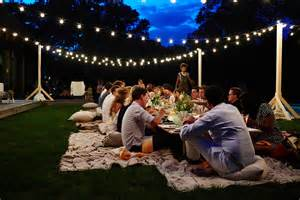 How To String Lights In Backyard Magic Carpet Dinner Eyeswoon