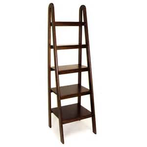 Ladder Shelf Bookcase Wayborn Ladder Bookcase Brown Bookcases At Hayneedle