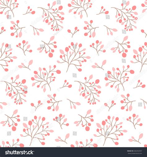 floral pattern en francais seamless pink flower pattern cute floral stock vector