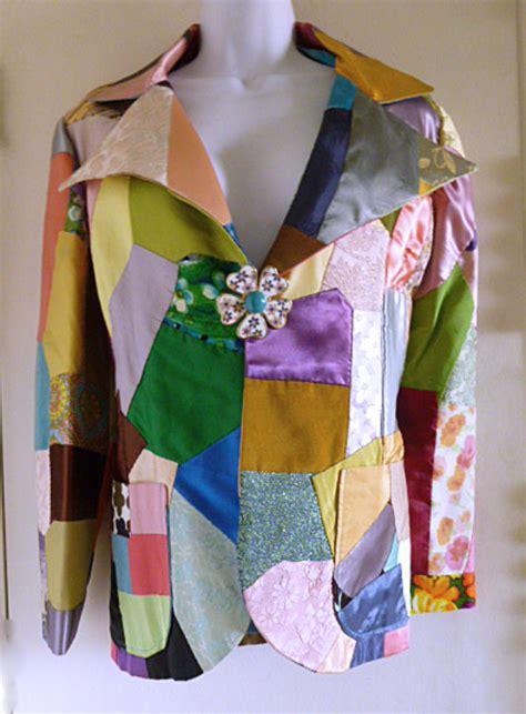 Flower Power Patchwork - 1960s 70s flower power patchwork jacket