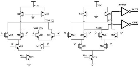 xor gate transistor level current mode logic testing of xor xnor circuit a study