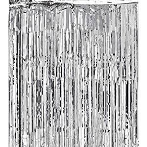 shiny silver curtains com metallic silver foil fringe shiny curtains for