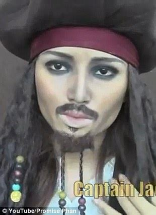 tutorial makeup jack sparrow johnny depp make up artist promise tamang phan transforms