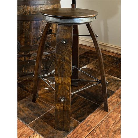 Wine Stave Bar Stools by Reclaimed Wine Barrel Stave Bar Stool