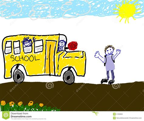 S Drawing In School by Child S Drawing Of Ride To School Stock Photo Image