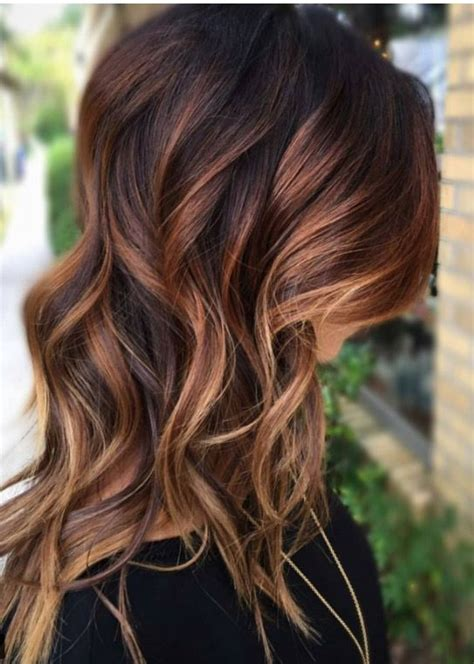trendy to elegant black hair with caramel highlights trendy hair highlights caramel glamfashion