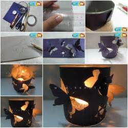 how to make home made how to make butterfly candle holders