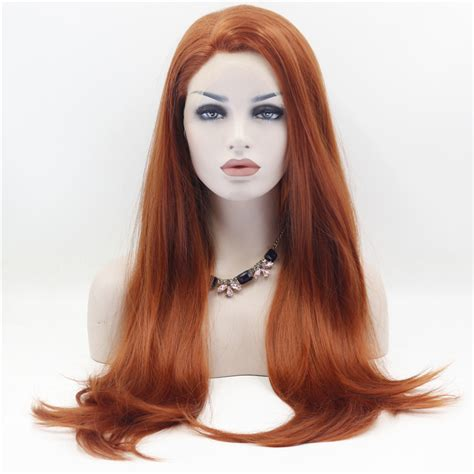 Handmade Wigs - copper lace front wig laco dianteira penruca
