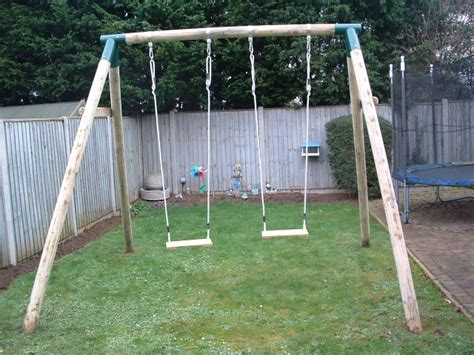 wooden swing adult sherwood double swing frame