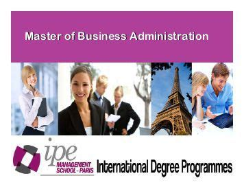 Mba Or Masters In Marketing by Foundation In Business Administration And
