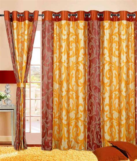 rust orange curtains cortina charminar rust orange 9ft eyelet curtain buy