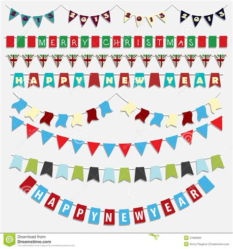 new year bunting vector and new year bunting stock vector image 27600666
