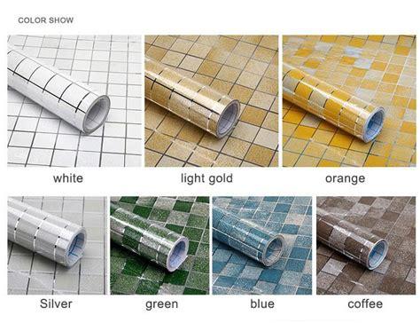 aluminum foil pink tiles self adhesive wallpaper for 5m aluminum foil self adhesive wall papers mosaic