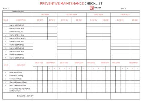 free preventive maintenance schedule template tunnelvisie
