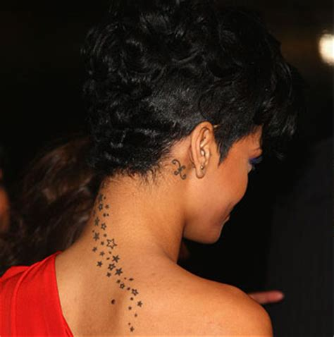 rihanna back tattoo rihanna tattoos pictures images pics photos of tattoos