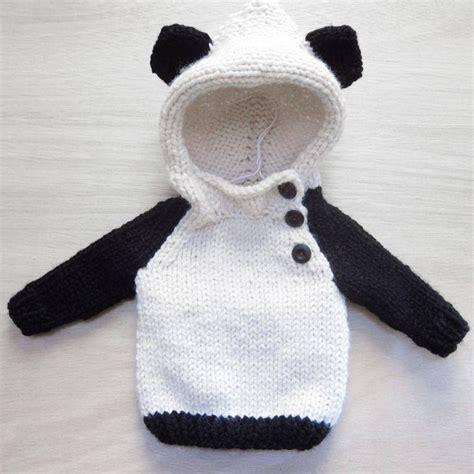 knitting pattern panda jumper buzo oso panda tejidos pinterest crochet panda and