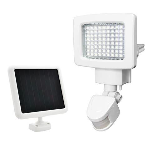sunforce white outdoor solar 80 led motion light 82080