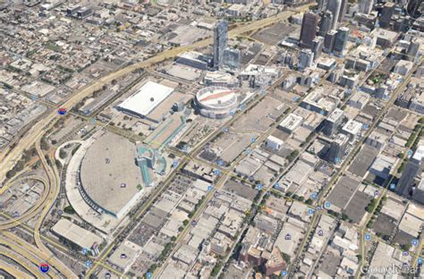 maps live sonics arena aerial maps comparing sodo to the l a live