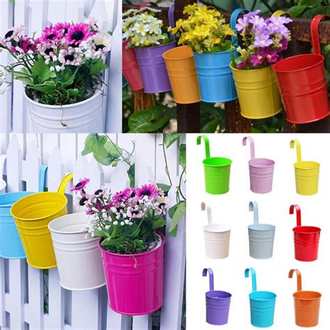 Colorful Hanging Planters by Get Cheap Metal Decorative Planters Aliexpress