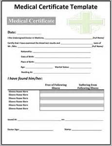 sick certificate template self certification sick note template best free home read