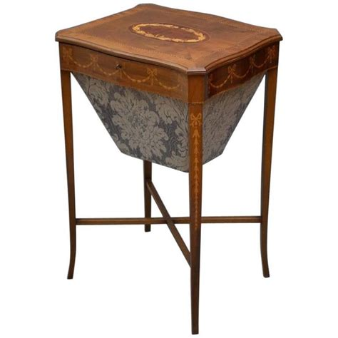 Sewing Tables For Sale by Edwardian Work Mahogany Sewing Table For Sale At 1stdibs