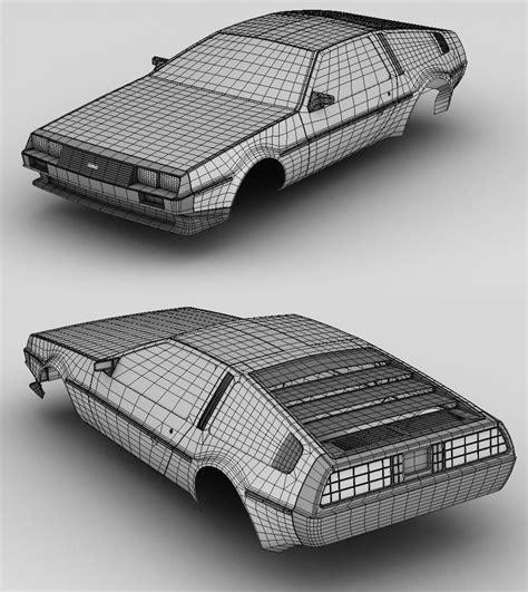 delorean blueprint delorean dmc 12 outer mesh by sorriso dan on deviantart