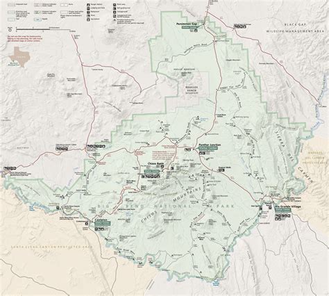 big bend national park texas map big bend map world map 07