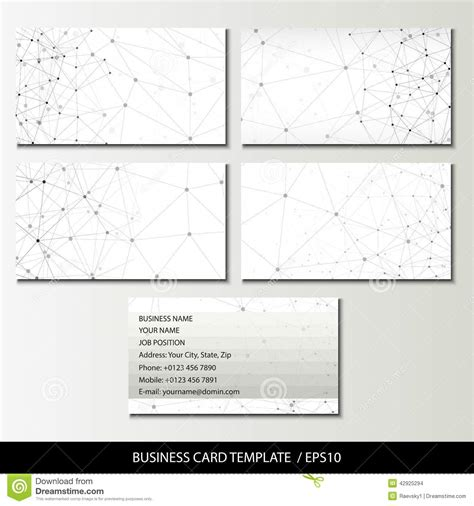 how to set up a business card template in photoshop set of business card templates vector illustration stock