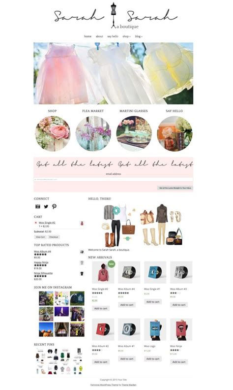themes compatible with woocommerce sarah sarah is a feminine woocommerce compatible