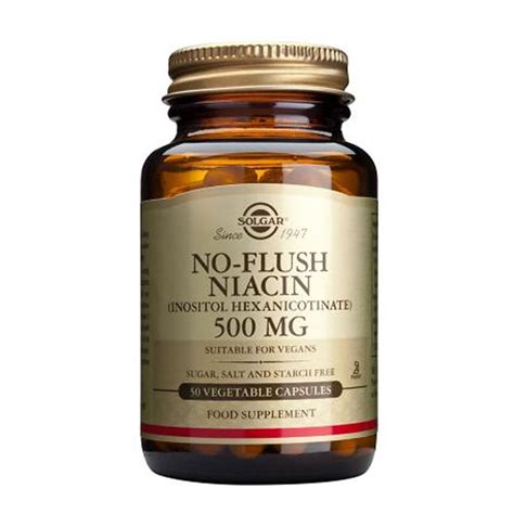 How Much Niacin To Take To Detox Thc by Solgar No Flush Niacin 500mg 50 Vegetable Capsules