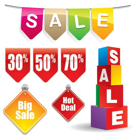 Discounts And Sle Sales by 3 Sets Of Discount Sales Decorative Icon Vector Free