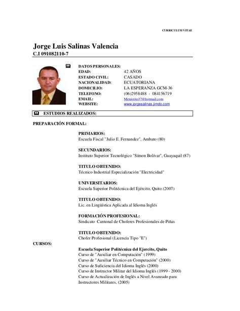 Modelo De Curriculum Actual En Word curriculum vitae actual