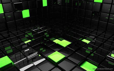 green  black cubes hd wallpaper windows  wallpapers
