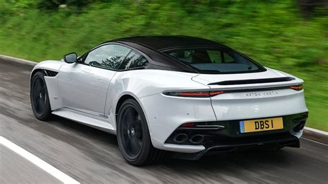 aston martin dbs superleggera white stone driving