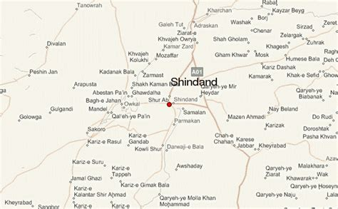 herat map shindand location guide