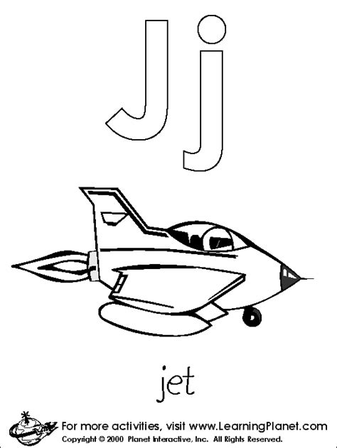 color that starts with the letter j letters coloring pages