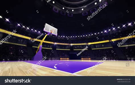 Courtview Search Basketball Court View With Spectators And Spotlights Sport Topic Arena Interior