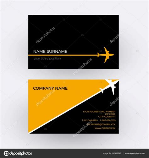 Travel Business Card Template With Orange Wavy Designs by Business Card Orange Vector Image Collections Card