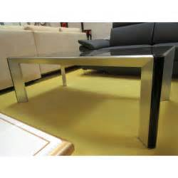 table de salon verre et acier promodiscountmeubles