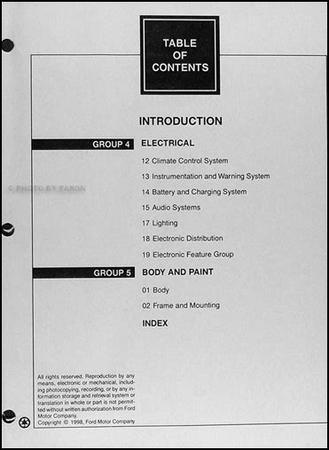 1999 lincoln continental cylinder manual 1999 lincoln