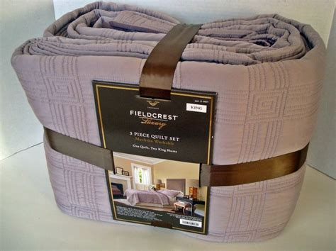 fieldcrest luxury 3 piece comforter set fieldcrest luxury king 3 piece quilt set new